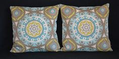Decorative throw pillow cover indoor outdoor by PoohPoohPillows, $20.00