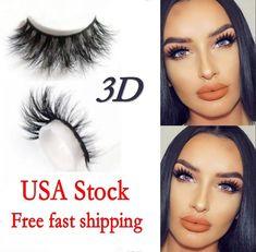 ceea1eaa41f Lilly Miami 3D Full Strip Lashes 100% Real Siberian Mink Strip Eyelashes  Beauty False Eyelashes