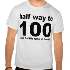 50th Birthday Shirt Fiftieth Great Gift!