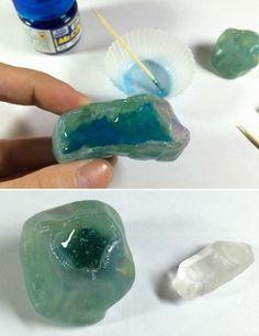 複雑な構造をしている鉱石ですが、作り方はとっても簡単なんです!