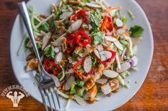 Hi-Protein Thai Almond Chicken Summer Salad