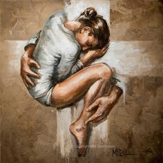 Image result for prophetic art everlasting arms of  Jesus