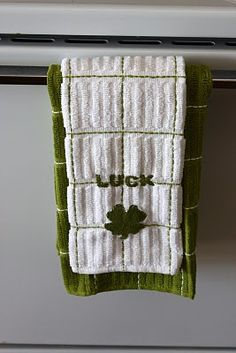 DIY St. Patrick's Day Towel