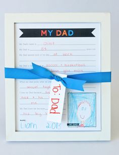 Printable for Dad for Fathers Day Hope I can figure out how to use our slightly broken printer for this!