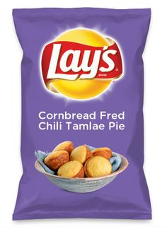Wouldn't Cornbread Fred Chili Tamlae Pie be yummy as a chip? Lay's Do Us A Flavor is back, and the search is on for the yummiest flavor idea. Create a flavor, choose a chip and you could win $1 million! https://www.dousaflavor.com See Rules.