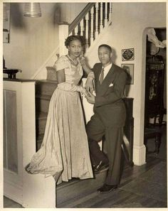 African American Vintage Wedding photo attendants in home