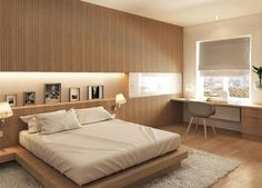 Choose from the largest collection of Bed Room Design & Decorating Ideas to add style at Bedroom. Discover best Bedroom interior inspiration photos for remodel & renovate. Bedroom Bed Design, Modern Bedroom Design, Home Room Design, Home Decor Bedroom, Decor Interior Design, Bedroom Designs, Modern Interior, Japanese Style Bedroom, Muji Home