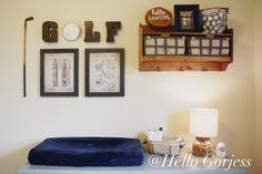 Golf Inspired Nursery