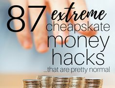 87 Extreme Cheapskates money hacks that are pretty normal. Yes, the show has some weird cheapskate ideas and some are great frugal ideas! Money Hacks, Money Tips, Money Saving Tips, Money Savers, Frugal Living Tips, Frugal Tips, Minimalist Living Tips, Minimalist Lifestyle, Ways To Save Money