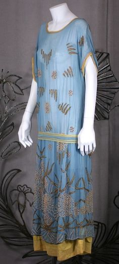 1920's Embroidered Day Dress. House of Adair image 2