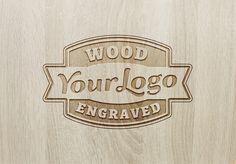 efecto logo calado en madera