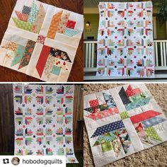 I love how different one pattern can turn out when two different people use it! What a fun QAL experience I had with Jody! Two entirely different quilts, but equally beautiful! Can't wait to do it again! Ready, Jody?   #Repost @hobodogquilts with @repostapp ・・・ Erika @eri_berrie and I had so much fun on doing our little qal together and here are the finishes, same pattern different fabric. I wish one of us had done a dark background to show you just how versatile this pattern is, but even…