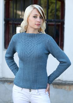 pullover with interlocking cables knitting pattern            19sts on 4mm
