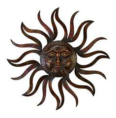 Wall Decor Home Sun Wire Art Outdoor Yard Garden Metal Patio Decoration