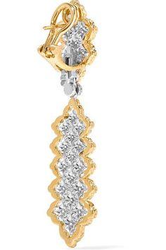 Buccellati - Rombi 18-karat Yellow And White Gold Diamond Earrings - one size