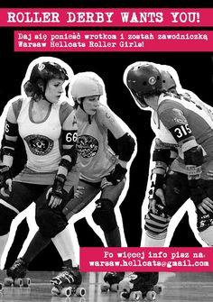 Ruszyły nabory na ZAWODNICZKI Warsaw Hellcats! Zostań Roller Derby Girl!!!!  #rollerderby #warsawhellcats #wrotki #zawodniczki