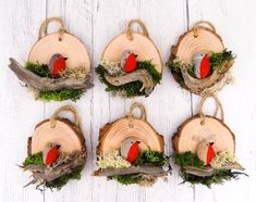 Cet article n'est pas disponible – My CMS Wooden Christmas Ornaments, Christmas Wood, Christmas Decorations To Make, Holiday Crafts, Bird Crafts, Shell Crafts, Stone Crafts, Rock Crafts, Christmas Pebble Art