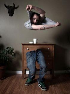 As surreais fotografias manipuladas de Ulric Collette - Corpo desencorpado