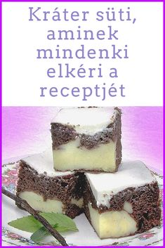 Hungarian Desserts, Food To Make, Food And Drink, Low Carb, Snacks, Baking, Cake, Sweet, Recipes
