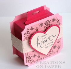 Creations on Paper: Ghirardelli Box favors