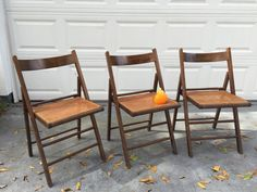 CANE FOLDING CHAIRS Made in Italy Wood and Cane by modernlogic
