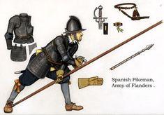 1604 c. Spanish Tercio Piquero_en_Flandes 1604