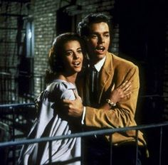 Natalie Wood and Richard Beymer in West side story directed by Jerome Robbins and Robert Wise, 1961 Tony West Side Story, West Side Story 1961, Somewhere West Side Story, West Side Story Movie, Natalie Wood, Broadway, My Fair Lady, Old Movies, Great Movies