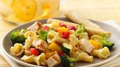 Blogger, Jenny Flake of Picky Palate shares a recipe.  Add something delicious to your family's dinner with this hearty grilled chicken and pasta salad!