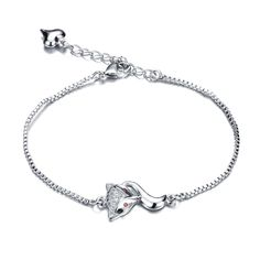Find More Chain & Link Bracelets Information about Woman's Fox Chain & Link Bracelets Fashion White Gold Color AAA+ Cubic Zirconia Vintage Women Party Wedding Jewelry,High Quality a bracelet,China bracelet fashion Suppliers, Cheap fashion bracelet from Yuan Yi jewelry Store on Aliexpress.com