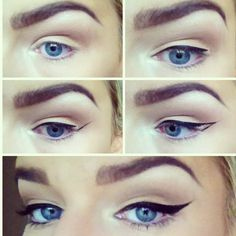 Have you always wanted to achieve that beautiful cat eye look with your eyeliner? If you're having a hard time, there are some easy cat eyes makeup tips you can try out. These tips will help you achieve the look every time in a matter of minutes. Winged Liner, Eye Liner, Liquid Liner, Cat Eye Tutorial, Smokey Eye Makeup Tutorial, Make Up Inspiration, Make Up Videos, Tips Belleza, Makeup Ideas