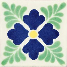 "12 Ceramic Decorative Folk Art 4x4"" Mexican Tile C162"