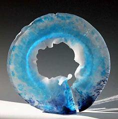 nad vallée art glass | Aux Tuamotu by Nad Vallée, Pâte de verre | Art: Modern ...