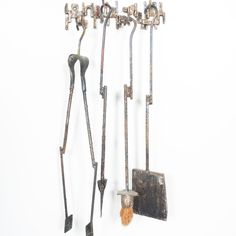 Salvino Marsura Artistic Brutalist Fire Irons, Italy, 1960 Fireplace Tools, Irons, Brutalist, Objects, Italy, Sculpture, Gallery, Artist, Italia
