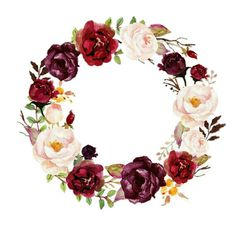 Watercolor floral wreath-marsala/individual png files/hand p Motif Floral, Floral Border, Floral Wreath Watercolor, Watercolor Flowers, Wallpaper Backgrounds, Iphone Wallpaper, Wallpapers, Wedding Cards, Wedding Invitations