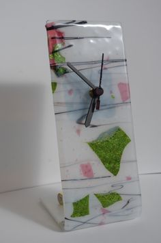 Free-standing Fused Glass Clock