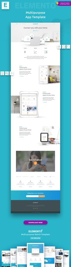 Buy Elemento - Multi-Purpose Sketch Template for Startups by YOYO_LABS on ThemeForest. Elemento is a versatile Sketch Template composed of flexible ready-to-use pages, structured to help jump-start yo. Web Design Projects, Web Design Tips, Design Strategy, Web Design Company, Ppt Design, Beautiful Web Design, Modern Web Design, Product Presentation, Landing Page Design