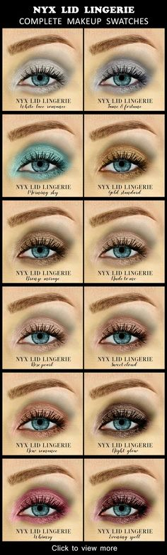 View all 12 swatches for the NYX lid lingerie collection. Shop them in the blog post.