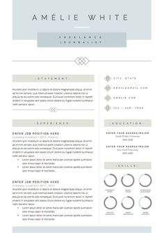 Resume Template  Page  Cv Template Cover By Fortunelleresumes