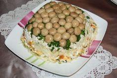 Salat Wiese mit Pilzen