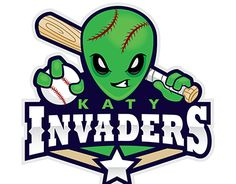 """Check out this @Behance project: """"Katy Invaders Little League Baseball Team Logo"""" https://www.behance.net/gallery/21893461/Katy-Invaders-Little-League-Baseball-Team-Logo"""