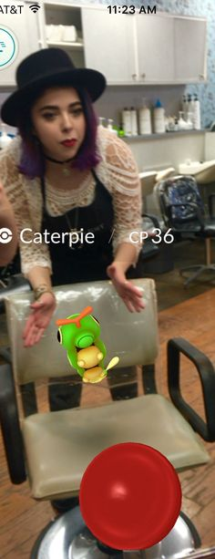 Now Pokemon friendly at Scissor Hands Salon. Afraid to leave your caterpie at home? Bring em on down! Just look at this brave little cutie. She'll be evolving before you know it.