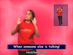 Getting Control of a Talkative Class | Heidi Songs. Interrupting is very disrupting. Don't start squawking when someone else is talking.