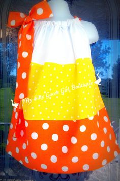 Candy Corn Dress... dang wish i had girls. maybe for someone else though.