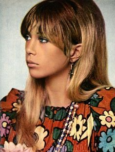 All the English girls had bangs (or fringe) as they were called over there! (Pattie Boyd)