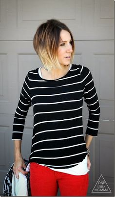 Stacked short ombre hair. I don't want quite so drastic but super cute!