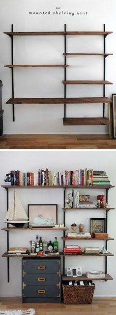 nice 103 Easy and Creative DIY Shelves Decoration Ideas https://wartaku.net/2017/04/15/easy-and-creative-diy-shelves-decoration-ideas/