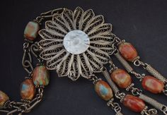 FLOWER OF IRAQ: Middle Eastern vintage by GlobalAdornments on Etsy