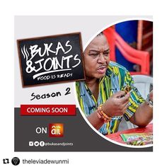 #Repost @theleviadewunmi with @repostapp  In the new Season of #BukasAndJoints Watch @OfficialOlisa in themost unimaginable locations; from food stalls to road side kiosks. PREMIERES ON AIT AUGUST 7TH! Cc @bukasandjoints