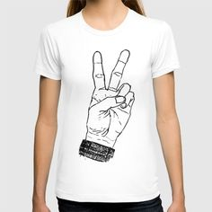 #art #tshirt #apparel #americanapparel #accessories #wall #decor #home #peace #sign #hand #fingers #drawing #illustration #pen #paper #society6 #clothes #fashion #summer