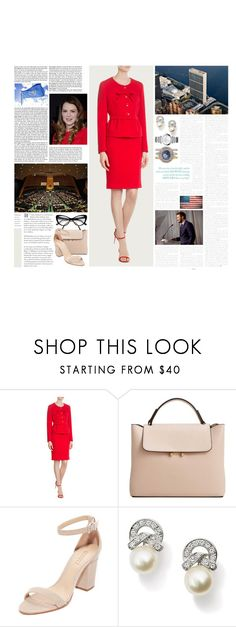 """""""Untitled #2991"""" by duchessq ❤ liked on Polyvore featuring Michael Kors, MANGO, Schutz and Chopard"""